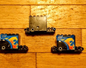 Lot of 3 Lego Flywheel Inertia Motors 9 x 4 x 3 2/3 for Vehicles, Black, 54802, Excellent Condition