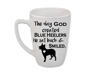 Blue Heeler Coffee Mug | Dog Coffee Mug | Coffee Mug Personalized | Personalized Coffee Mug | Personalized Gift | Blue Heeler Gift