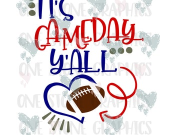 It's game day y'all svg,football svg,football,football svg file,sports,sports svg,toddler,toddler svg,football y'all svg,football,svg,file