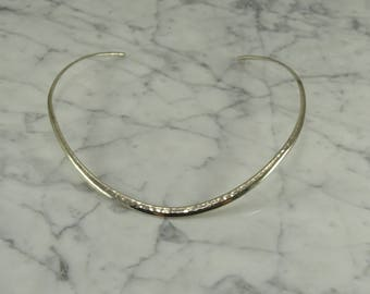 Sterling Silver Hammered Neck Cuff