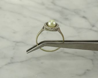 14K White Gold / Pearl Ring (size9.5)