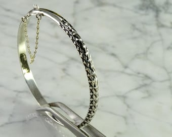 Sterling Hinged Bangle Bracelet