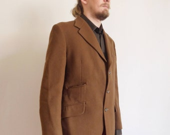Dunn & Co 80s Coat Vintage wool coat West of England Men jacket Hipster Jacket large size