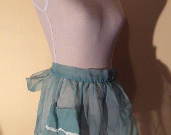 Vintage Sheer Green Apron
