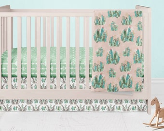 Custom Crib Bedding- Infants Crib Skirt - Fitted Crib Sheet - Bohemian Baby Blanket- Modern Nursery Decor-Baby Shower Gift Set- Toddler Bed