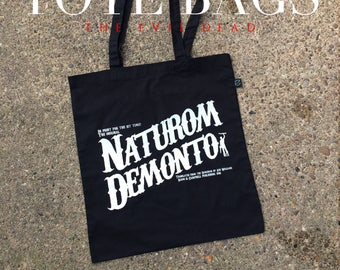 The Evil Dead inspired tote bag - horror movie tote bag - film tote - nameless city apparel - shopping bag - graphic tote  - horror apparel