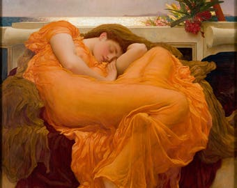 Flaming June by Frederick Leighton - Poster A3 or A4 Matt, Glossy or Art Canvas Paper