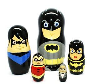 Lego Batman, Nesting doll Batman for kids signed matryoshka russian dolls