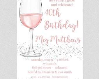Cocktail Party Invitation, Wine Tasting Party Invitation, Engagement Party, Birthday Party, Dinner Party Invitation, Couples Shower Invite