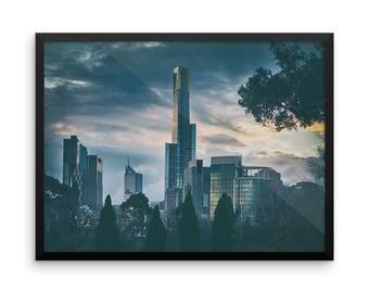 Melbourne Photo Print   Travel Photography   Skyscraper   Australia   Skyline   Large Wall Art   Poster   Tourism   Victoria   Cityscape