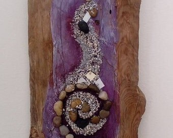 Art in wood, spiral of life, Way, Lilac, wood