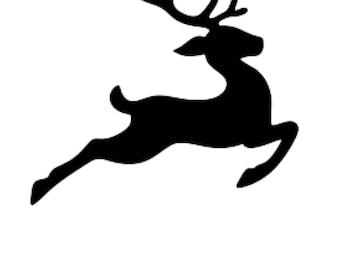 Reindeer Stencil Etsy