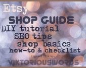 Etsy Shop Basic Guide Beginner Tutorial Copywriting Know How SEO Check List How to Sell Product on Etsy Start Tips Etsy13 Shop Marketing
