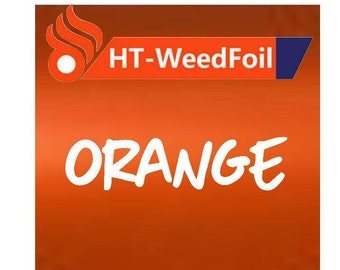 HT WeedFoil Heat Transfer Vinyl - Iron On - HTV - Orange Foil