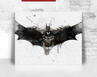 Batman Print Batman Poster Batman Wall Art, DC Comics, Justice League, Home  Decor