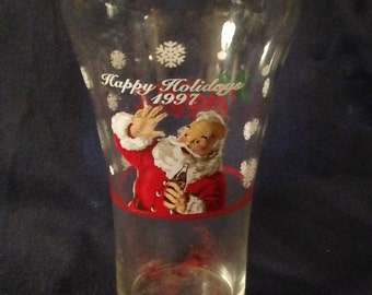 Vintage 1997 Coca Cola Glass