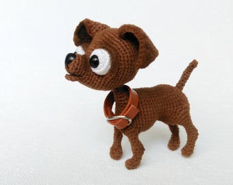 Amigurumi dog Crochet Chihuahua plushie toy Stuffed chihuahua dog Crochet toy Chihuahua art doll gift for dog lover Gift stuffed dog replica