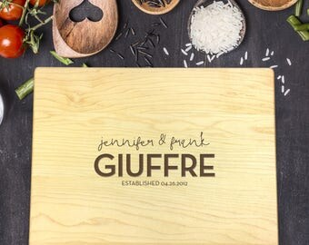 New Home Gift, Personalized Cutting Board, Gift for Couple, Gift for Her, Gift for Him, Wedding Gift, Last Name Gift, B-0029 Rec