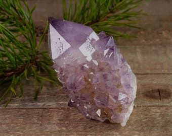 8.3cm SPIRIT QUARTZ Crystal Point - Purple Amethyst Quartz Point, Healing Crystal, Druzy Amethyst Crystal, Spirit Quartz Point 36810