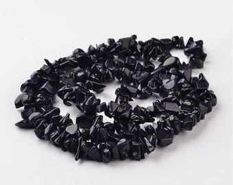 Type 75 beads 6-12mm blue Goldstone Chips
