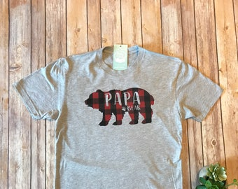 Plaid Papa Bear Shirt, Gifts for Dad, Dad Shirt, Dad Gifts, Buffalo Plaid Shirt, Family Shirts, New Dad Gift, Fathers Day Gift from Baby,