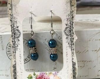 Swarovski Blue Pearl earrings
