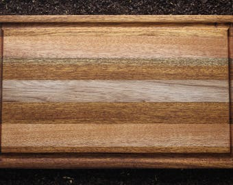Chopping board in precious solid wood