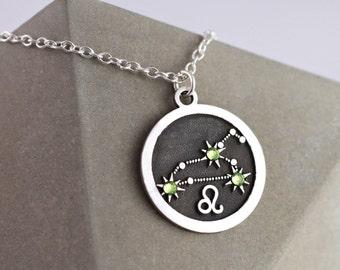 Leo Zodiac Jewelry | Sterling Silver | Leo Zodiac | Horoscope Necklace | Zodiac Gifts For Leo | Zodiac Necklace | Horoscope Jewelry