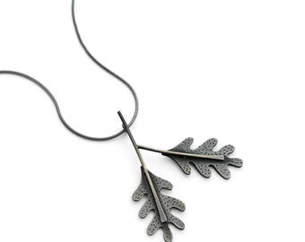 Oak leaf branch pendant