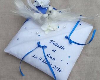 Custom wedding doves Saperlipopette design wedding ring cushion