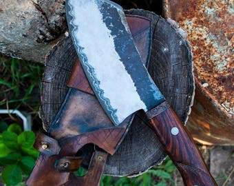 Butcher knife, meat cleaver, chef knife, hand forged knife,  hatchet, kitchen knife, cleaver, butchers knife, meat chopper,meat knife.