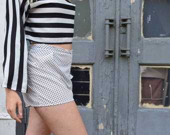 Sleepwear Inspired Polka-Dot Shorts