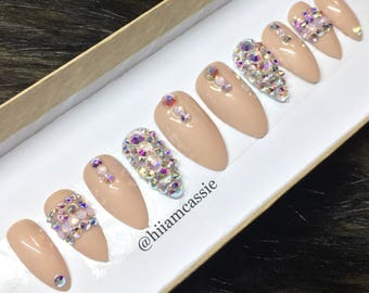 Bling baby | Press on nails | Glue on nails | Fake nails | False nails | Stiletto nails