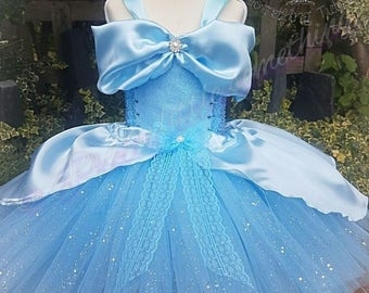 Cinderella tutu dress, knee length, inspired princess ball gown