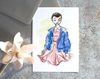 Carte postale-Eleven-Stranger Things