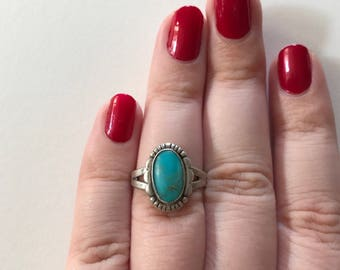 Vintage Turquoise 925 Sterling Silver Ring