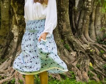 Edi Skirt-Dress, Skirt Dress Combo, Versatile Skirt, Boho Skirt, 104-140