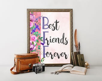 Best Friend, printable, best friend gift, best friend present, best friend printable, bff, bff gifts, bff printables, bff girls, bff present
