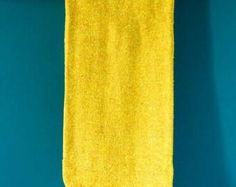 "Sunrise: Solid yellow Handwoven falsa blanket 80"" x 49""//Yoga Blanket// Beach Blanket// camping blanket"