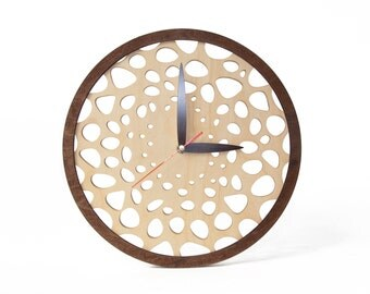 Wooden clock wall - Modern wall clock - Wood clock - Modern clock wooden - Room wall clock - House gift wooden - New house gift