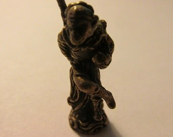 Brass Mini Figurine-Statuette of Sun Wukong, the Monkey King, 27mm