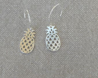 """Pineapple"" Silver earrings"