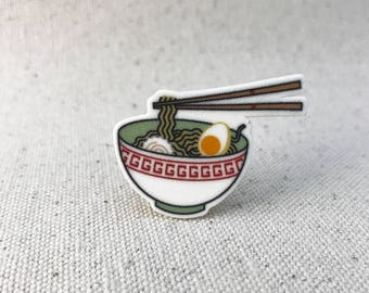 Ramen Noodle Soup // Brooch Lapel Pinback