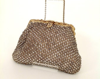 1930s diamanté evening purse handbag vintage antique