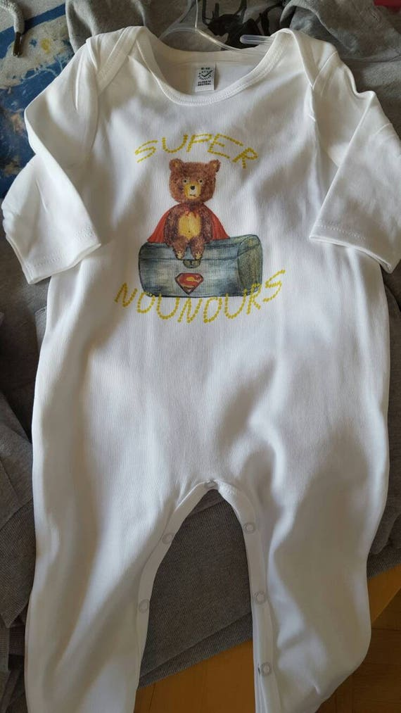 "Child pajamas ""super bear"""