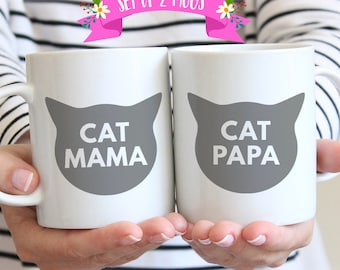 Cat Mom Cat Dad, Funny Cat Mugs for Cat Lovers, Cat Lovers Gift
