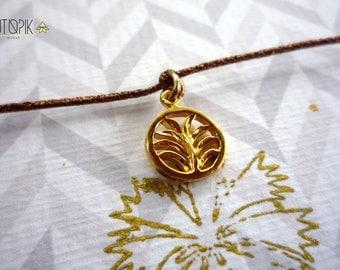 BRACELET * leaf * copper wire
