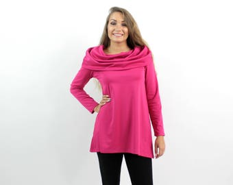 Plus Size Blouse - Autumn Blouse - Hoodie - Long Sleeve Blouse - Jersey Blouse - Oversize Blouse - Casual Blouse - Loose Blouse - BeLoved