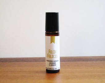 FELIX FELICIS / Sugared Ginger Lemon & Jasmine / Book Inspired / Harry Potter Wizard Potion Collection / Roll-On Perfume Oil