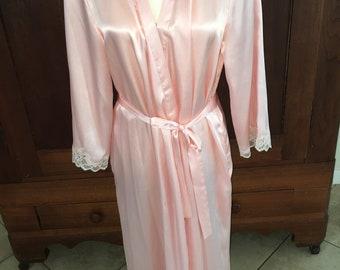 L/Oscar de la Renta/Pinky Peach Robe/Large